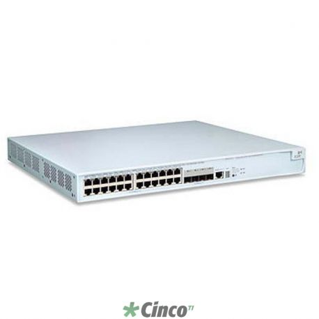 Switch 4500 PWR - 24x 10/100 Mbps (POE) + 2x 10/100/1000 Mbps + 2x mini-GBIC