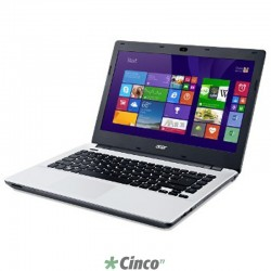 Notebook Acer 14in Core i3-4005U 4GB 1TB W8.1 Cor Branco NX.MN6AL.026