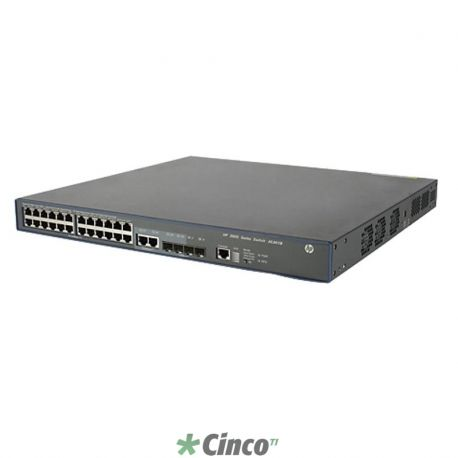 HP 3600-24-PoE+ v2 EI Switch - Switch - managed - 24 x 10/100 (PoE+) + 4 x SFP - rack-mountable - PoE+