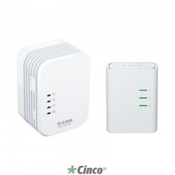 Adaptador Wireless D-Link Powerline AV500 Wireless N300 Kit DHP-W311AV