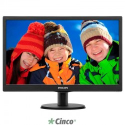 Monitor Philips LED 18,5in 1366 x 768 pixels @60 Hz Preto VGA, HDMI 193V5LHSB2