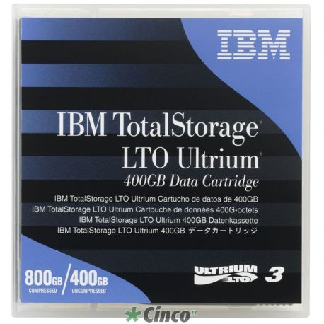Fita LTO-3 Ultrium 400GB Data Cartridge IBM