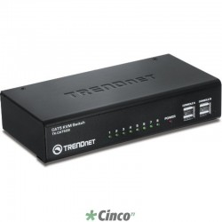TRENDnet Chaveador KVM 8x 10/100Mbps CAT5 (VGA + USB/PS2) TK-CAT508