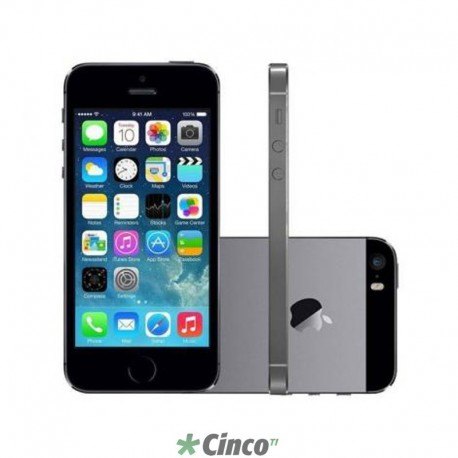 94fd0393b Iphone 5S Cinza Espacial Apple 32GB ME435BR/A - Cinco TI