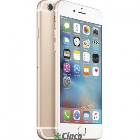 Iphone 6 Plus Ouro 128GB Apple MG9T2BZ/A
