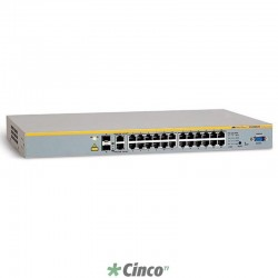 Switch Allied Telesis 24 portas, empilhável, 10/100T AT-8000S/24POE