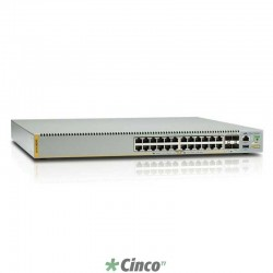 Swicht Allied Telesis, empilhável com 24 portas gigabit (1000BASE) AT-X510-28GTX-5