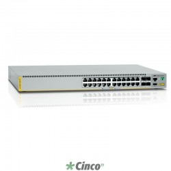 Switch Allied Telesis com 24 portas 10/100/1000T e 4 portas SFP+ combo AT-X510-28GTX
