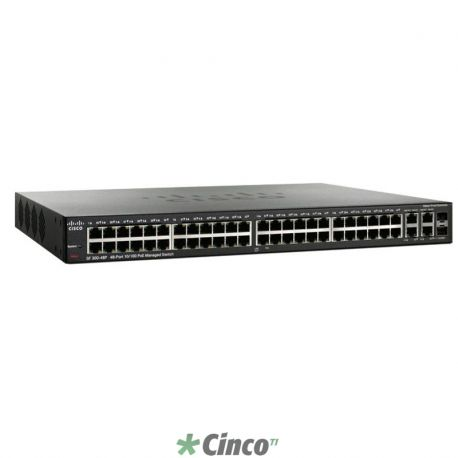 Switch Cisco SRW248G4-K9-NA 48-portas 10/100 + 2 mini GBIC