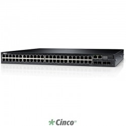 Switch Dell Networking N3048 L3 com 48x 10/100/1000Mbps + 2x Combo SFP + 2x 10GbE SFP+ 210-ABOG-370