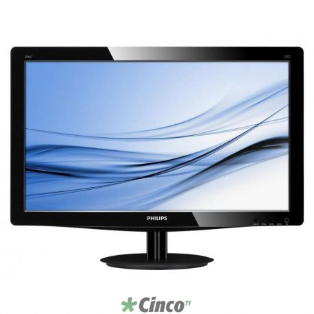 "Monitor LED Philips 20"" WideScreen, VGA/DVI"