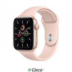 APPLE WATCH SE 44MM GPS GOLD ALUMINUM PINK SPORT BAND MYDR2LL/A