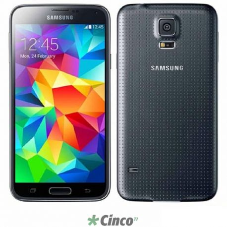 Smartphone Samsung Galaxy S5 16GB 4G Preto 5.1in Câmera 16MP Frontal 2MP