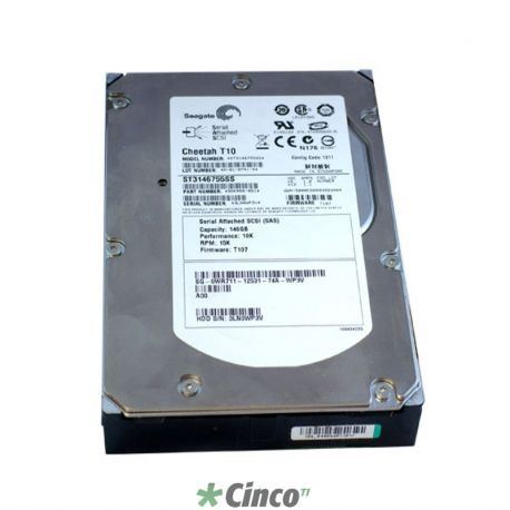 Disco rígido Seagate Cheetah, 146GB, 15.000RPM