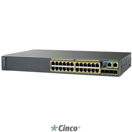 Switch CISCO Catalyst 2960X 24 Gigabit PoE 370W - Lan Base
