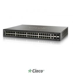 Switch Cisco 48 portas 10/100/1000 PoE, 2 SFP, Gerenciável, Empilhável, VLAN, SF500-48P-K9-NA