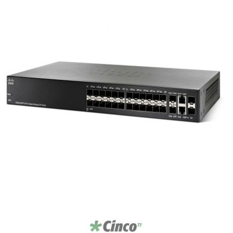 Swith Cisco, gerenciável, SG300-28SFP-K9-NA