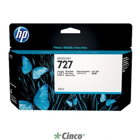 Cartucho de Tinta HP UK Preto 727 130ml, B3P23A