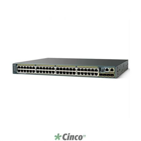 Switch Cisco, 48 portas, WS-C2960X-48LPS-L