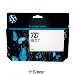 Cartucho de Tinta HP UK Cinza 727 130ml, B3P24A