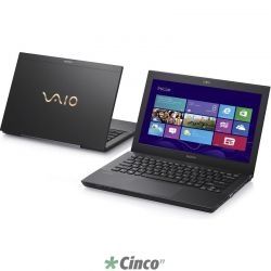 "Notebook Vaio, Core i7, 6GB, Tela 13,3"" LED, 750GB, Win 8 Pro"