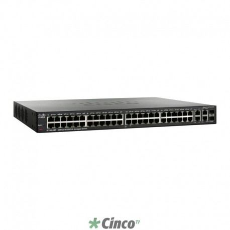 Switch Cisco, 48 portas 10/100, SRW248G4P-K9-NA