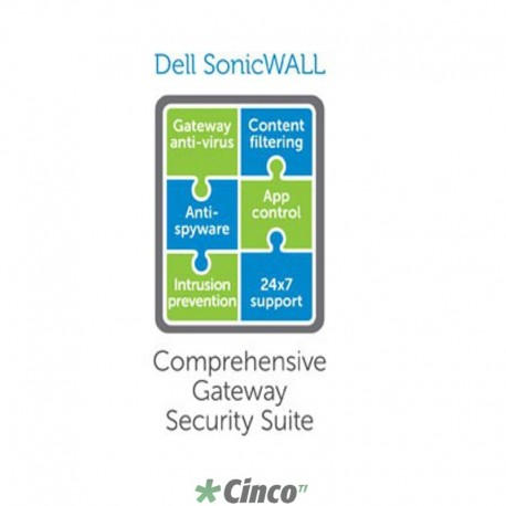 Licença Dell Sonicwall, 1 ano, 01-SSC-0018