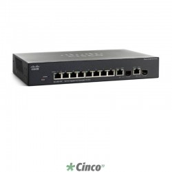 Switch Cisco Gerenciável, Empilhável, VLAN, 8 Portas 10/100, 2 Portas 10/100/1000, SRW2008P-K9-NA
