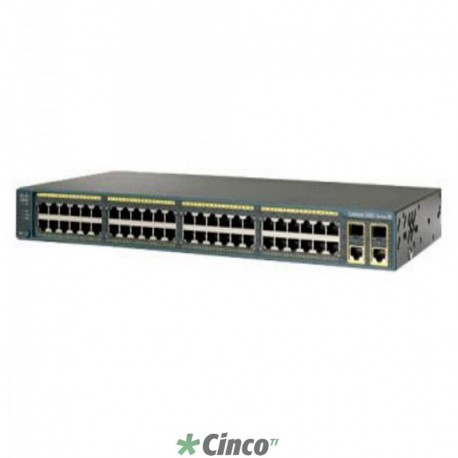 Switch Cisco Catalyst 48 portas 10/100, WS-C2960-48PST-S