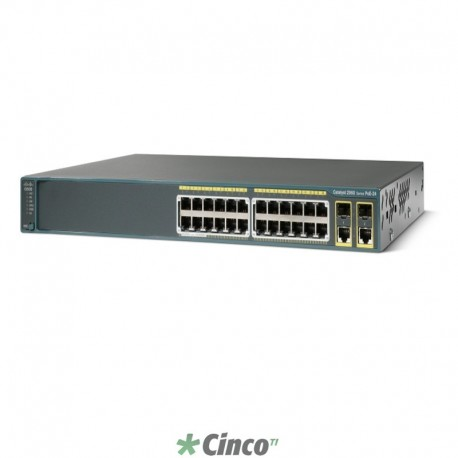 Switch Cisco Catalyst 2960 Plus, 24 portas 10/100, WS-C2960+24PC-L