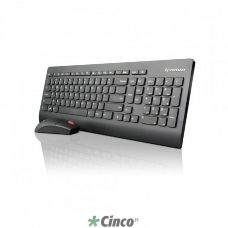 Kit teclado e mouse Wireless Lenovo, 0A34070