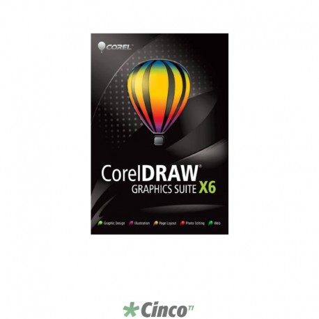 CorelDRAW Graphics Suite X6 Upgrade (Hard Back Book), Poruguês e espanhol, CDGSX6ESBPHBBUGAM