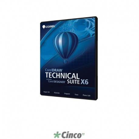 CorelDRAW Technical Suite X6 Upgrade (DVD Case), Inglês, CDTSX6ENDVDUG