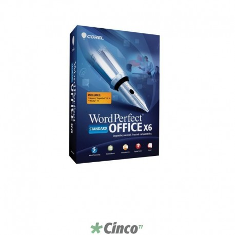Corel WordPerfect Office X6 Standard Mini-Box Upgrade, Inglês, WPX6STDEMBUAM
