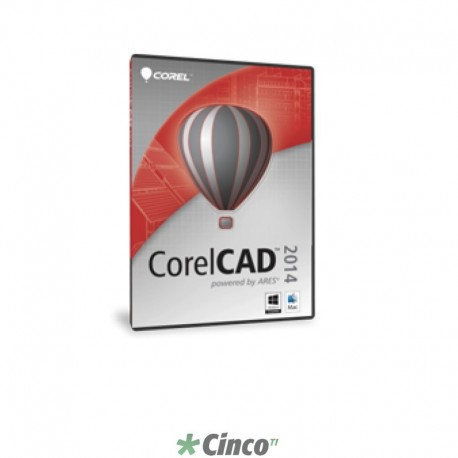 Upgrade de licença CorelCAD 2014 Single User PCM ML, Port/Fra/Esp/Ing, LCCCAD2014PCMUG1