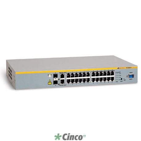 Switch Fast Ethernet - 24x 10/100Mbps (RJ45) + 2x Combo (10/100/1000Mbps RJ45 ou mini-GBIC)