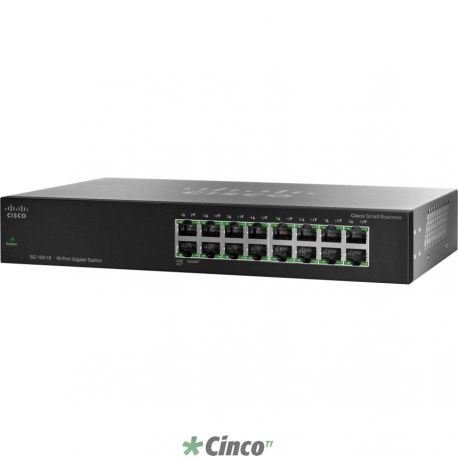 Switch Gigabit 16 portas Cisco SMB SR2016T (16 x Gigabit)