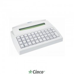 Teclado Gertec TEC-44 PS2 Display Branco, 004.0281.1