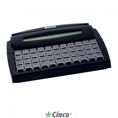 Teclado Gertec TEC-E44 USB Display Preto, 004.0872.7