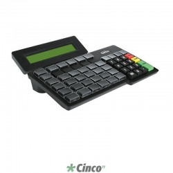Teclado Gertec TEC-55 PS2 Display Preto, 004.0798.4