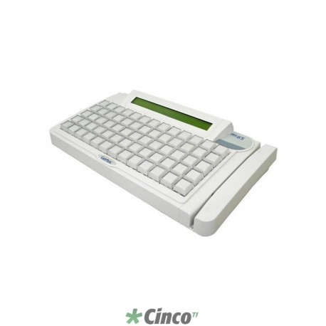 Teclado Gertec TEC-65 PS2, Display, Branco, 004.0646.8