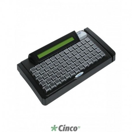 Teclado Gertec TEC-E65 PS2, Display, Preto, 004.0783.0