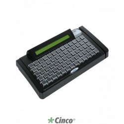Teclado Gertec TEC-E65 PS2, Leitor 2, Display Preto, 004.0784.7