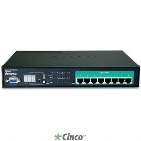 Switch PoE Inteligente Web 8 portas