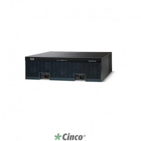 Roteador CISCO 3925E, 4 portas LAN 10/100/1000, USB, CISCO3925E-SEC/K9