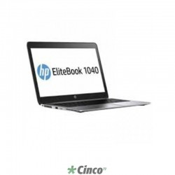 "Notebook HP EliteBook 1040, Intel Core I7-4300U 4ª, HD 256GB, 8GB RAM, 14"", Windows 8 Pro, G4U71LT"