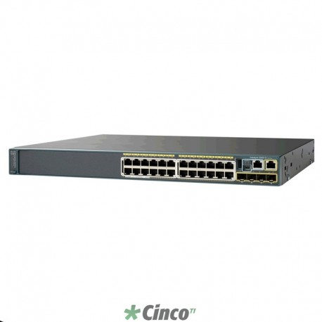 Switch Cisco Catalyst 2960 24 portas WS-C2960S-48LPSBR