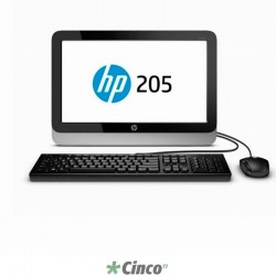 "All in One HP 205 AiO, AMD E1-2500, 18.5"", 4GB, 500GB, DVD-RW, Windows 8.1 Pro, F4L08LT-AC4"
