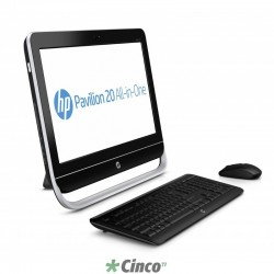 "Desktop All in One HP Pavilion, Intel Core i3-3220, 20"", 4 GB RAM, HD 500 GB, QZ335AA"