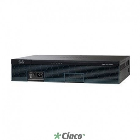 Roteador Cisco 2911, 3 Portas WAN Gigabite, 512MB DRAM, ETHERNET, CISCO2911BR-V/K9